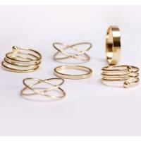 Пирсинг Комплект колец на пальцы и фаланги пальцев Спираль золото / 6 штук производства Гонконг