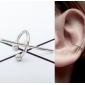 Ear cuffs (кафф) минималистический Крест белый