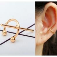 Ear cuffs (кафф) минималистический Крест цвет золото