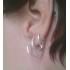 Серьги кольца серебро 925 проба  диаметр 10 мм, пара фото пирсинг 3