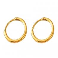 Серьга кольцо цвет золото 18 мм, пара