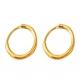 Серьга кольцо цвет золото 16 мм, пара