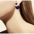 Серьги Mise en Dior ЭКОНОМ РОЗОВЫЙ ТЕМНЫЙ, пара фото пирсинг 6