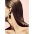 Серьги Mise en Dior МАКСИ МАТОВЫЙ БИРЮЗА , пара / УЦЕНКА фото пирсинг 6