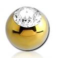 Шарик 1,2 мм мед. сталь анодирование YE с камнем 3,0 мм