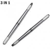 Ручка профессионал манипула для микроблейдинга Трио серебро / три цанги