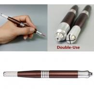 Ручка манипула для микроблейдинга Дуэт шоколад Professional / две цанги