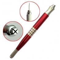 Ручка манипула для микроблейдинга Дуэт красный Professional / две цанги
