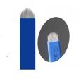 """Иглы для микроблейдинга плоские №18 """"синие"""" пайка U формы"""