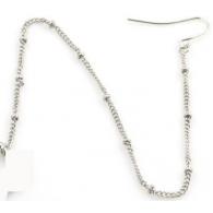 Цепочка с шариками для крепления к серьге от носа до уха, швенза, колечко / цвет серебро